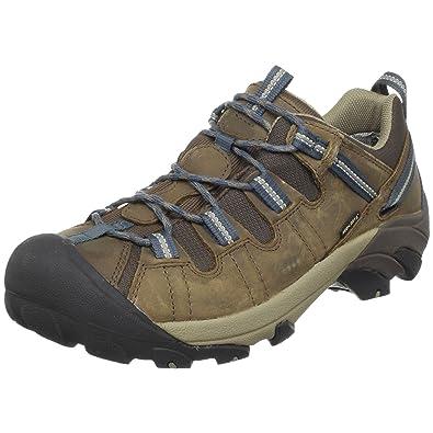 KEEN Men's Targhee II Waterproof Hiking Shoe,Slate Black/Brindle,10 ...