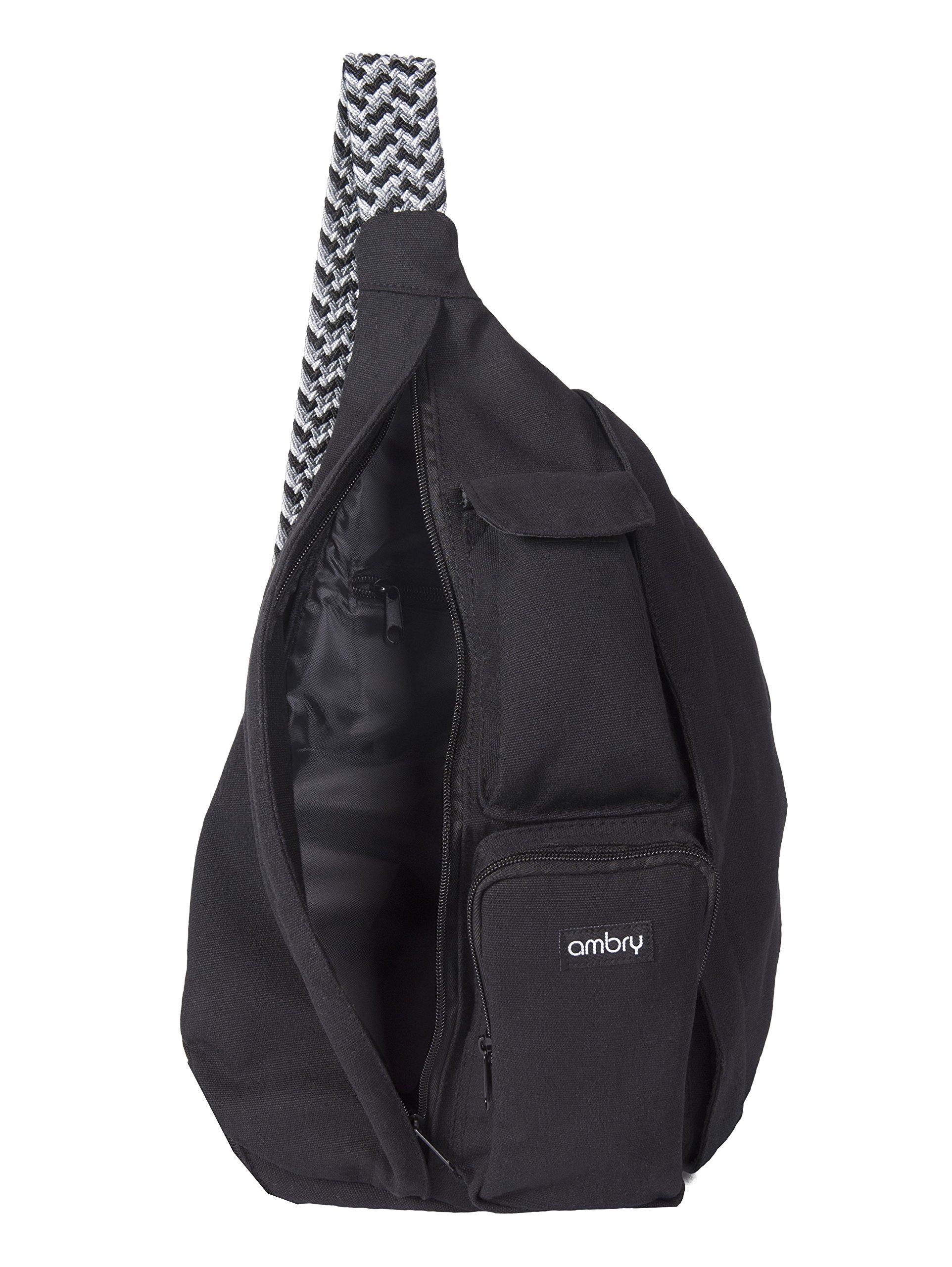 Ambry Rope Sling Bag Canvas with Adjustable Shoulder Strap Compact Backpack