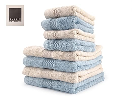 4 opinioni per SET asciugamano 8 PEZZI Zucchi HOME