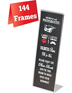 144 acrylic photo booth frames slanted for 2x6 picture strips