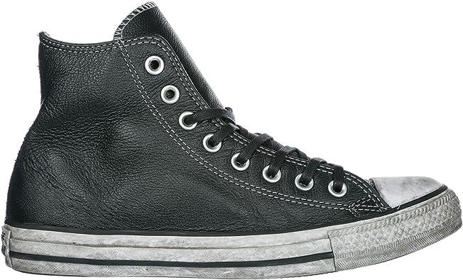 Converse Chaussures Baskets Sneakers Hautes Homme en Cuir ...