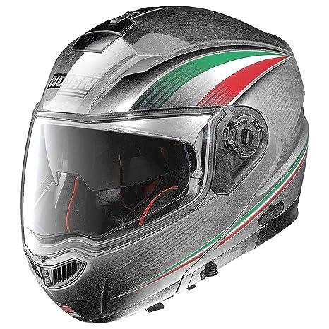 Nolan N104 Absolute Italy – Casco moto policarbonato N- Com – verkratztes cromo