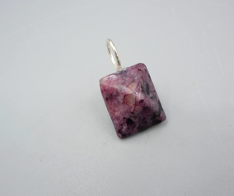 Jaspis Anhä nger - lila Jaspis Kettenanhä nger - 925 Silber - Beads-in-Fashion