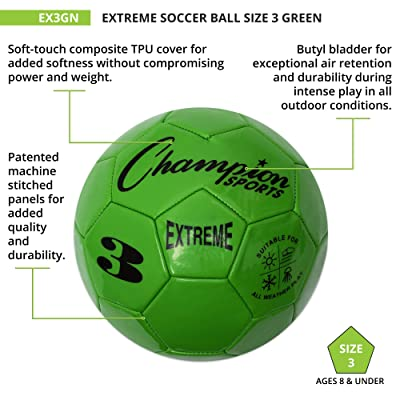 4 Champion Sports Extreme Series Composite Soccer Ball Purple Size 4 Sizes 3