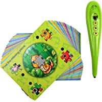 Boxiki kids Smart Answer Pen Fun Educational Learning Reading Pen for Kids. Includes 50 Double-Sided Alphabet Flashcards…