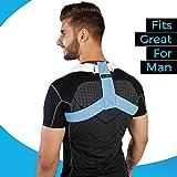 Goodlex - Corrector de postura para espalda y hombro, ajustable y acolchado, para hombres y mujeres, alinea tu spine, elimina el dolor y la caza, alivia la molestia y evita lesiones (M)