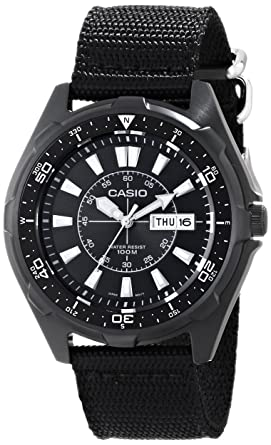 Amazon.com  Casio Men s AMW110-1AV Classic Stainless Steel Watch ... bab046d2aa