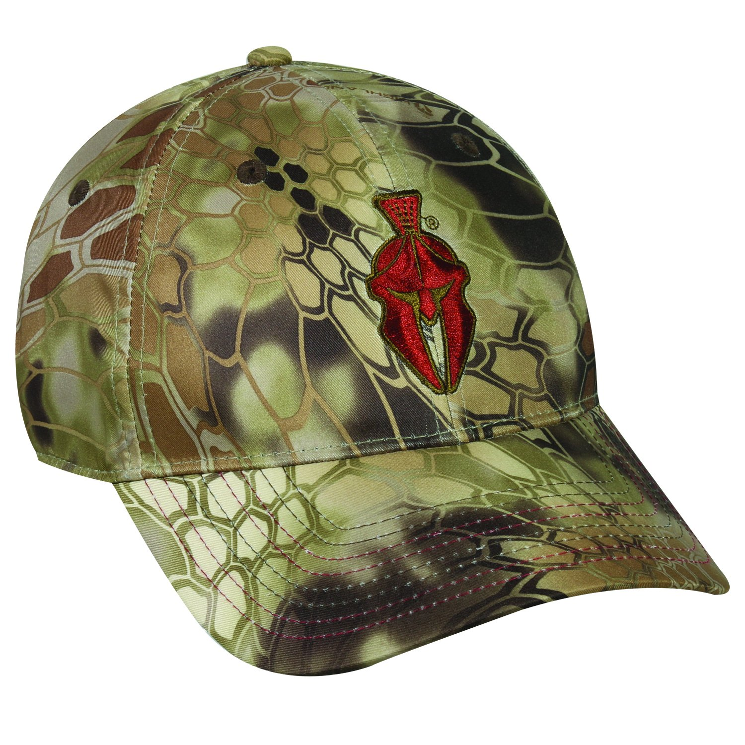 Kryptek Adjustable Closure Red Logo Cap, Highlander Camo