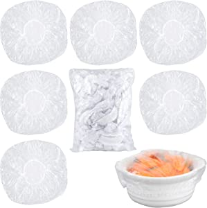 180PCS Reusable Elastic - Stretch Bowl Covers with Stretch PE Plastic Food Storage Covers Elastic Dish Plate Wrap Bowl Covers for Leftover and Meal Prep (180)