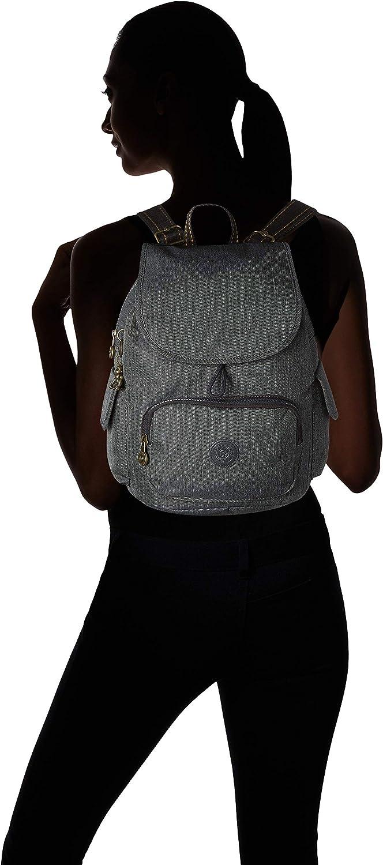 Kipling City Pack S, Zaini Donna, Grigio, 27x33.5x19 cm Nero (Black Indigo) xqBV3