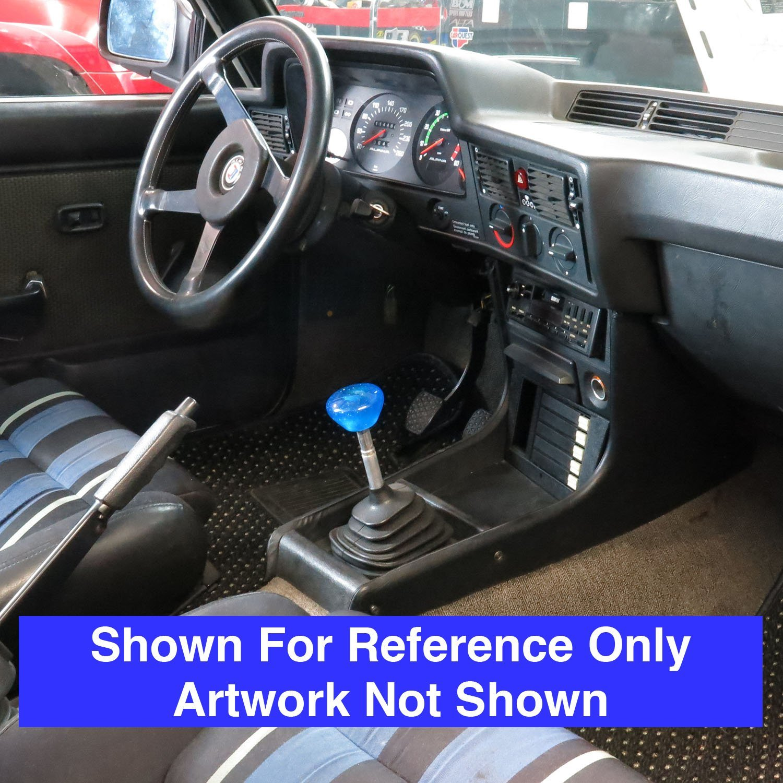 American Shifter 141490 Blue Retro Metal Flake Shift Knob with 1//2-20 Insert