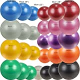 Isokinetics Inc. PT Exercise Ball - 55cm, 65cm, 75cm - Mix and Match Sizes and Colors - Physical Therapist Quality for Clinic or Home