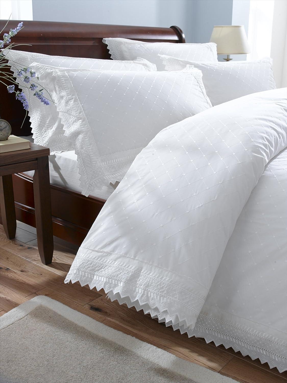Balmoral White King Size Embroidered Duvet Cover: Amazon.co.uk: Kitchen U0026  Home