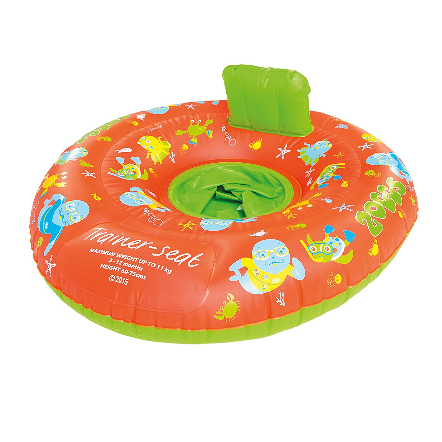 Zoggs Zoggy Inflatable Trainer Seat Toddler Water Swimming Aid