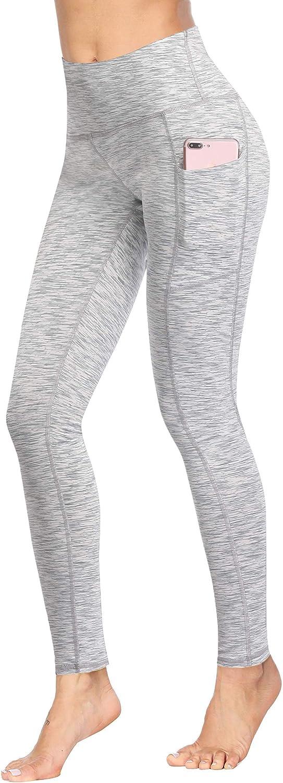 Fengbay Pantalones de yoga de cintura alta, Pantalones de yoga con bolsillo, Pantalones de control de abdomen, Ejercicio, Leggings de yoga, tejido de cuatro vías