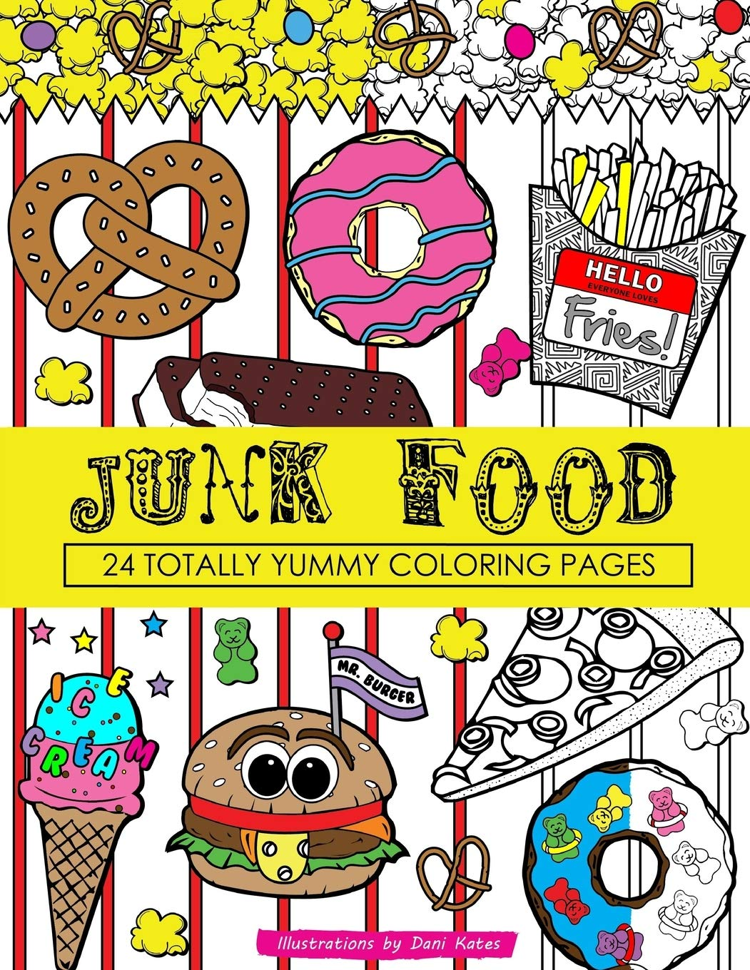 - Junk Food Coloring Book: 24 Page Coloring Book: Amazon.co.uk