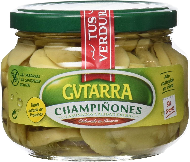 Gvtarra Champiñón Laminado Extra en vidrio - Paquete de 6 x 190 gr - Total: 1140 gr