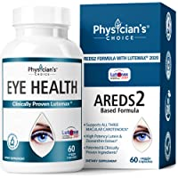 Areds 2 Eye Vitamins (Clinically Proven LuteMax 2020) Lutein and Zeaxanthin Supplement...
