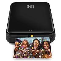 KODAK Step Wireless Mobile Photo Mini Printer (Negro) Compatible con Dispositivos iOS y Android, NFC y Bluetooth