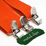 "Orange Women Suspenders. 1"" Y Back with Silver"