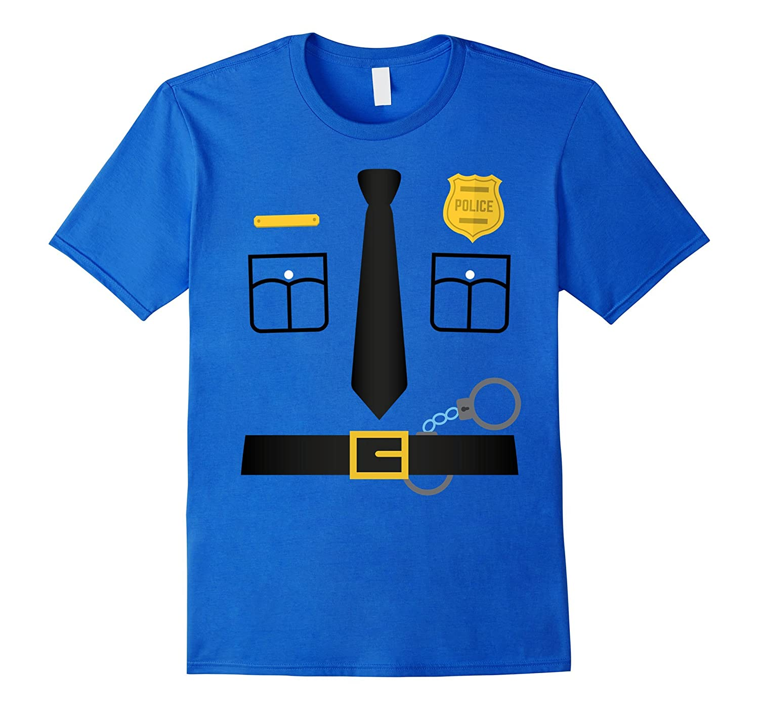 Police Uniform Costume Halloween T-Shirt - Kids to Adult-TD