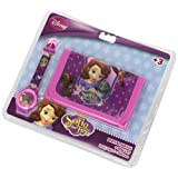 Disney - Principessa Sofía. WD10570. Portafoglio Gift Set + Digital Clock