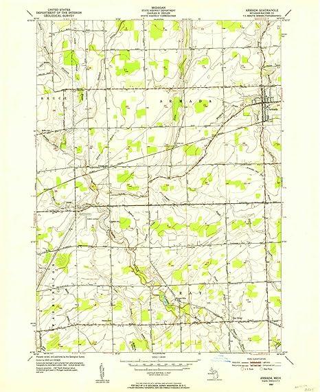 Amazon Com Yellowmaps Armada Mi Topo Map 1 24000 Scale 7 5 X 7 5