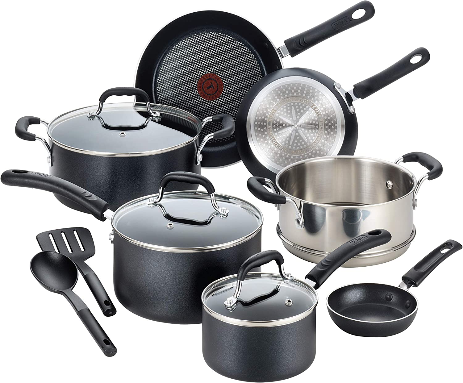 T-fal C515SC Professional Nonstick Cookware Dishwasher Safe Pots and Pans Set