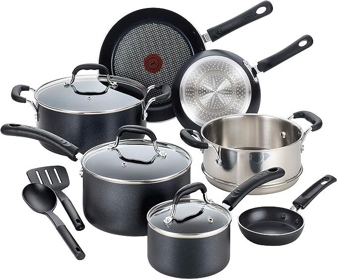 3.T-FAL PROFESSIONAL NONSTICK COOKWARE DISHWASHER SAFE POTS AND PANS SET