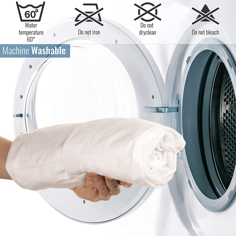 Coprimaterasso Impermeabile 90 x 200 cm Lavabile e Anallergico VITAPUR in Cotone Traspirante