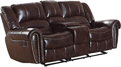 Amazon Com Homelegance 9668brw 2 Double Glider Reclining