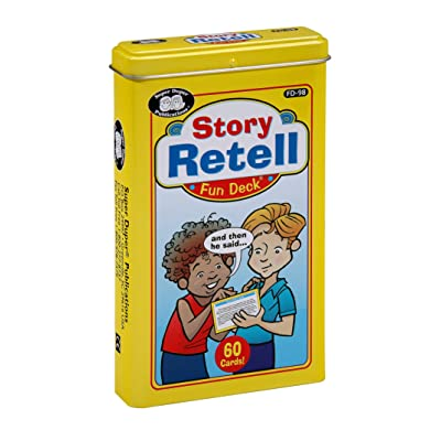 Super Duper Publications | Story Retell Comprehension Fun Deck | Auditory Memory and Listening Skills Flash Cards | Educational Learning Materials for Children: Toys & Games