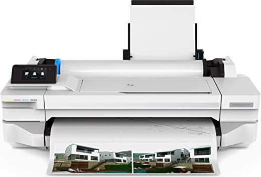 HP DesignJet Printer T130 24-inch (A1/A2/A3/A4) Large Format Inkjet Color Printer/Plotter Wi-Fi, 1200 x 1200 dpi (2 years warranty)