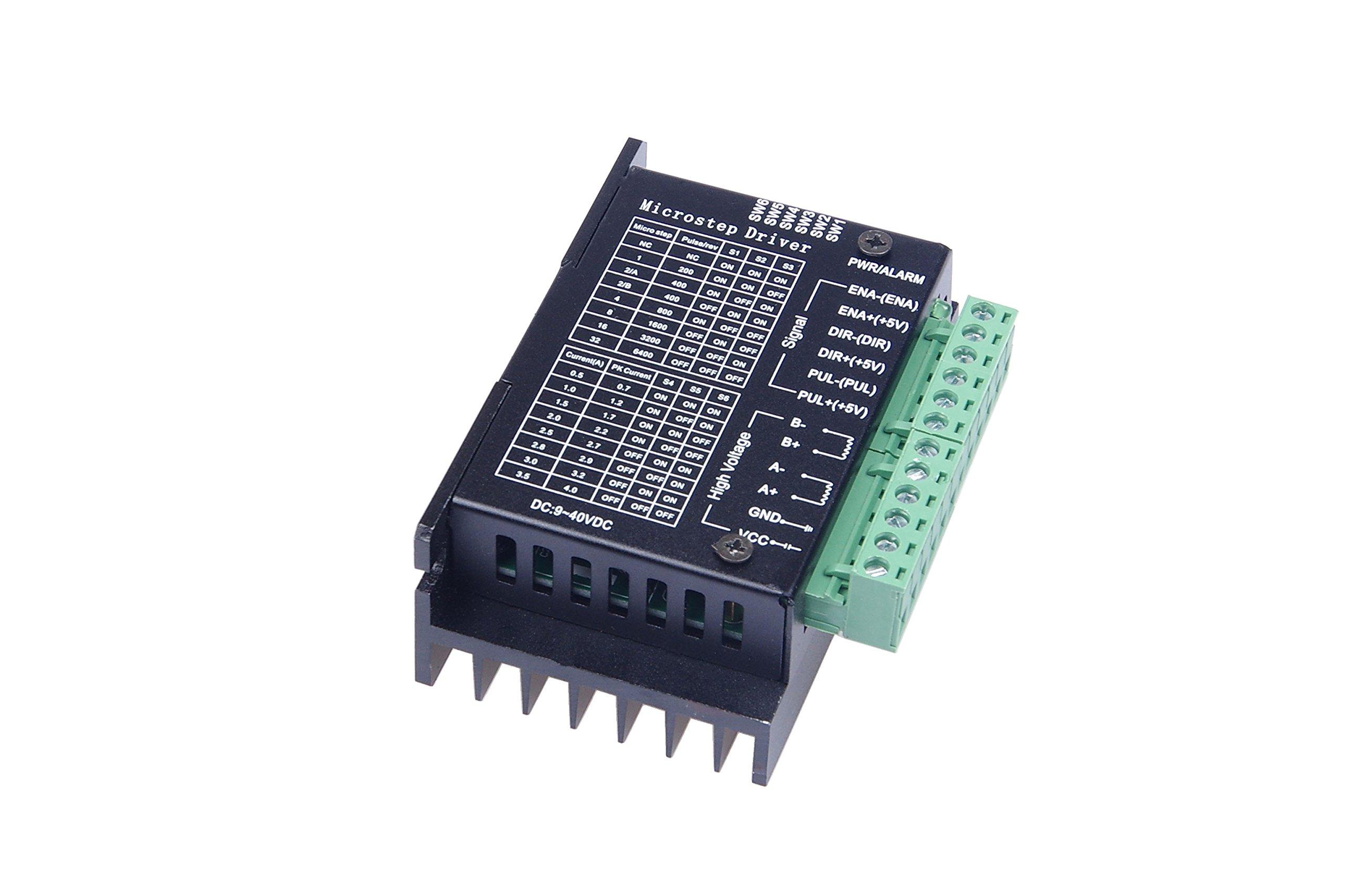 Lheng 4A 9-42V Stepper Motor Driver CNC Controller,32 Subdivision Upgrade tb6600 for 2 or 4 Phase of Stepper Motor 42 86 Random Pattern 57