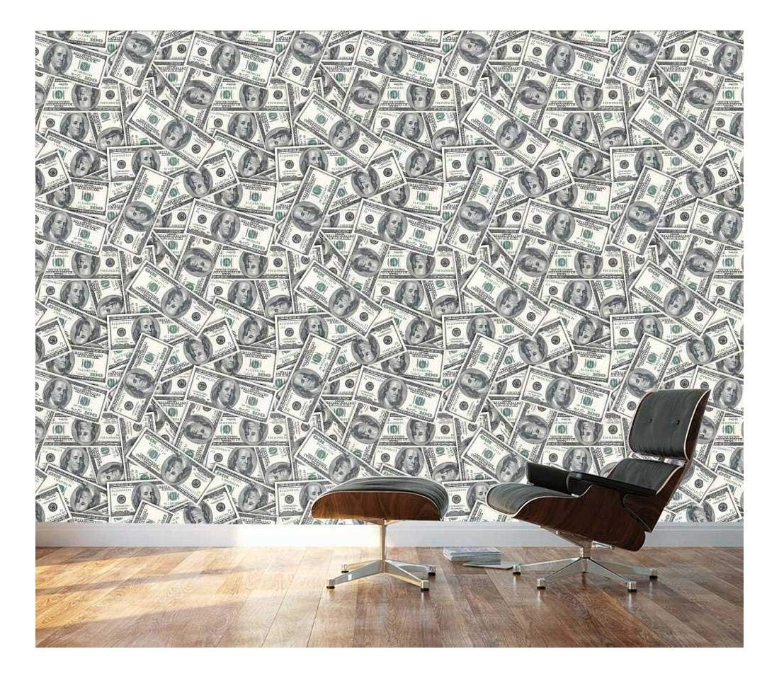 wall26 - 100 Dollar Bills Collage Background - Large Money Wall Mural, Removable Peel and Stick Wallpaper, Home Decor - 100x144 inches by wall26 (Image #1)