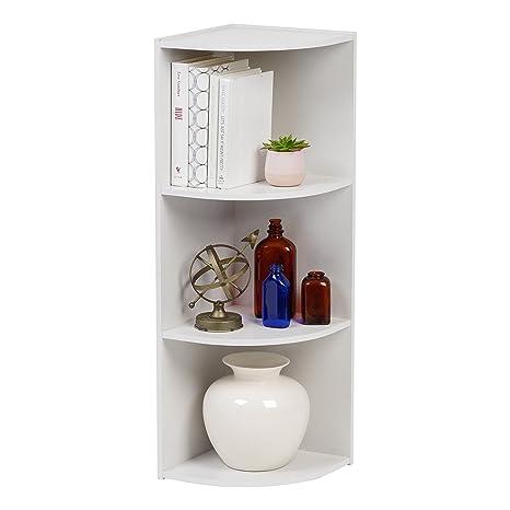 IRIS 3 Tier Corner Curved Shelf Organizer, White