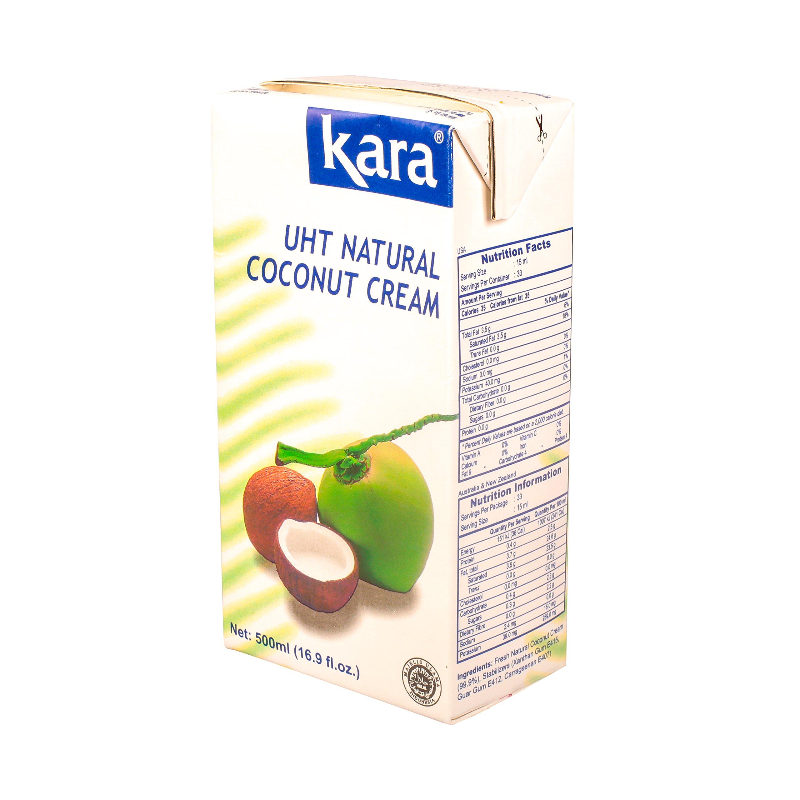 Kara UHT Coconut Cream (16.9 Oz. X 4)