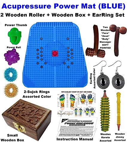 Super India Store Acupressure Power Mat With Magnets & Pyramids For Pain  Relief & Total Health - 12 X 12 5 Inches