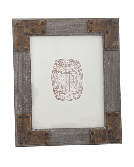 Stonebriar Rustic Wood Frame with Corner Brackets, Holds 8 by 10 ...