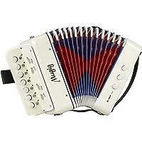 Mugig Acordeón 7 Keys con una Disposición de Teclas como Pianos y Botones Correas de Soporte Juguete de Rhythm Band para…