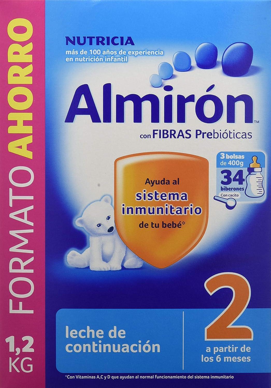 Almirón 2 Leche de continuación en polvo desde los 6 meses - 1,2 kg, 1 unidad: Amazon.es: Amazon Pantry