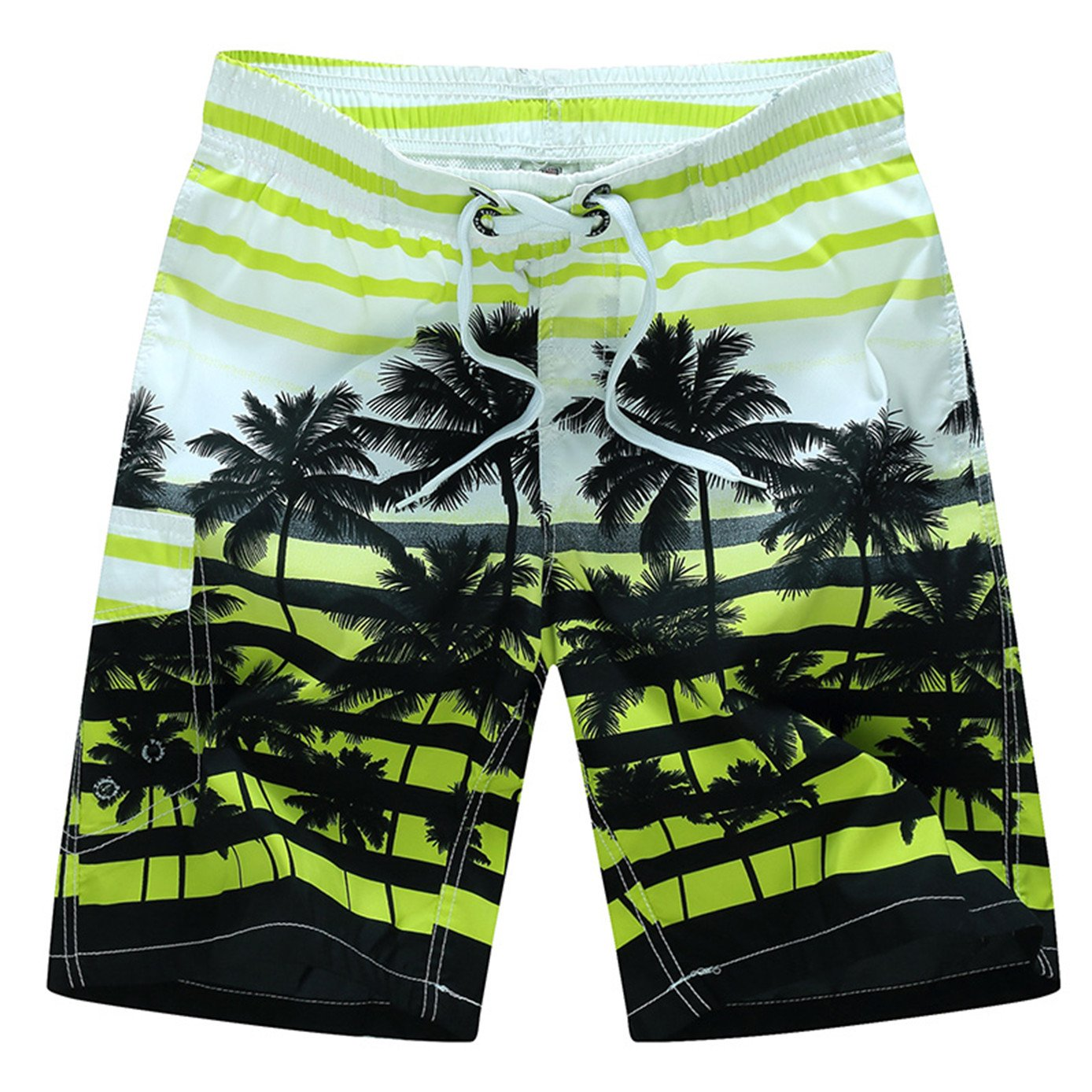 Tailor Pal Love Swim Trunks for Boys Volley Swim Strip Short Comfort Boardshort Swimwear with Coconut Tree Print Green 5X Large by Tailor Pal Love (Image #1)