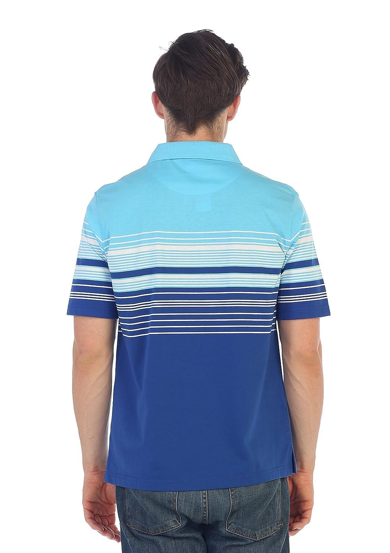 Gioberti Mens Slim Fit Striped Polo Shirt with Pocket