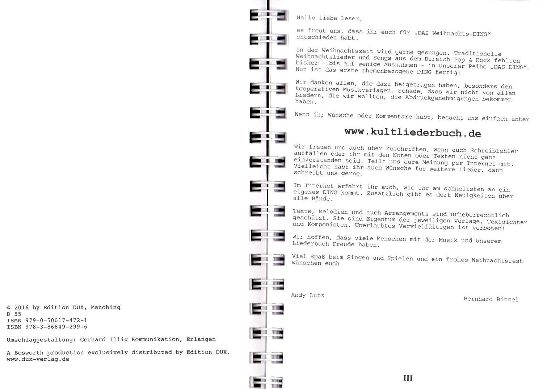 Kultliederbuch mit bunter herzförmiger Notenklammer Das Ding