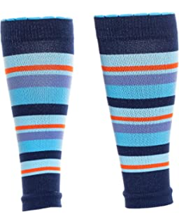 d9ae8fe432 Lily Trotters Women's Designer Athletic Compression Sleeve - Candy Stripe  Blue ...