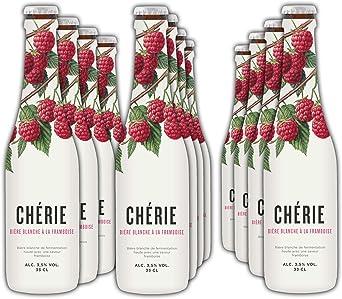 Chérie - Cerveza de Trigo con Sabor Frambuesa - Pack 12 Unidades 33 cl: Amazon.es: Alimentación y bebidas