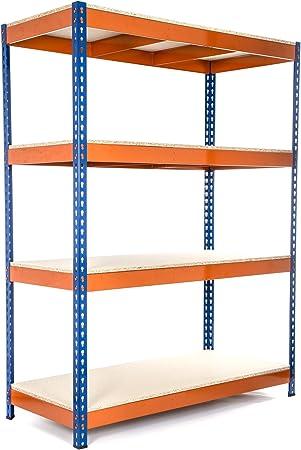 cargas pesadas Estanter/ía // Estante del garaje// Sistema de almacenamiento de acero + Env/ío gratis Racking Solutions 5 niveles 1800mm Al x 1800mm An x 450mm Pr capacidad de carga total 1000kg