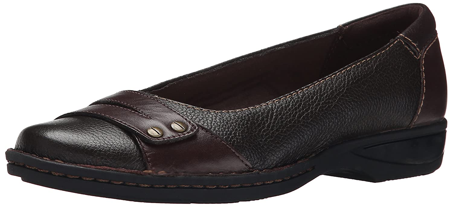 CLARKS Women's PEGG Abbie Flat B00TU5CXGA 8 B(M) US|Brown Leather