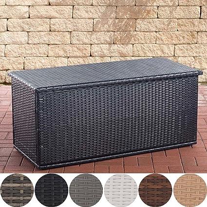 Clp Polyrattan Auflagenbox Comfy L Gartentruhe Für Kissen Und Auflagen L Größen Erhältlich 150 Schwarz