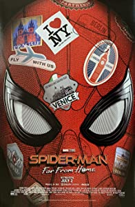 SPIDER-MAN FAR FROM HOME MOVIE POSTER 1 Sided ORIGINAL MINI SHEET 11x17 MARVEL